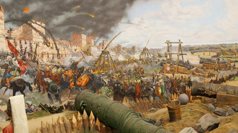 Final Assault And The Fall Of Constantinople stock footage