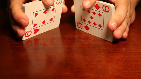 Man shuffling cards Stock Video Footage