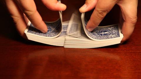 Man shuffling cards Footage
