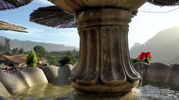 Spain Gran Canary Fataga 039 valley landscape and fountain Footage