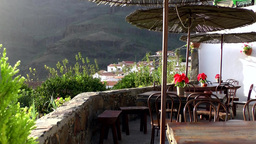 Spain Gran Canary Fataga 037 restaurant on a terrace Footage