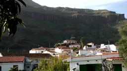 Spain Gran Canary Fataga 035 settlement on a hillside Footage