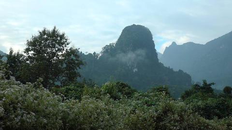 Beautiful mountain landscape in Laos Footage