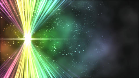Shining Light across Screen Animation - Loop Rainbow Animation