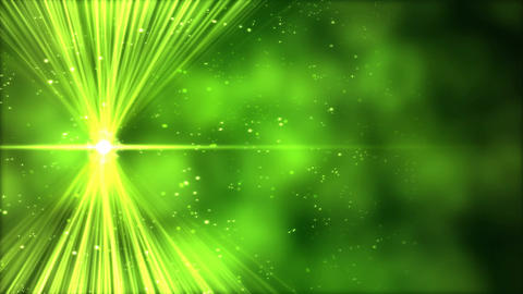 Shining Light across Screen Animation - Loop Green Animation