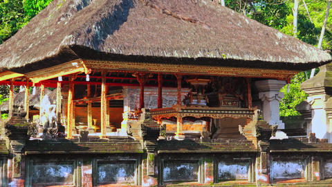 Religious architecture of Gunung Kawi Temple Complex, Ubud, Bali, Indonesia Footage