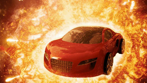 Car fire fx explosion Animation