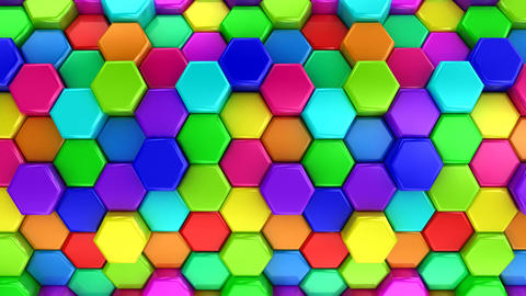 Animated Colored Hexagons Animation