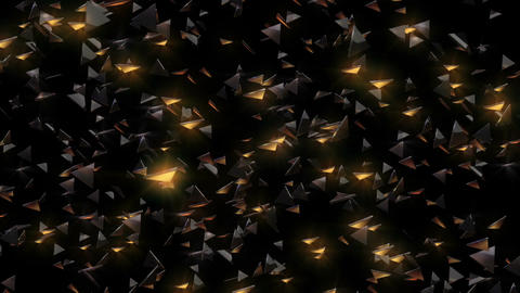 A myriad of triangles shining gold Animation