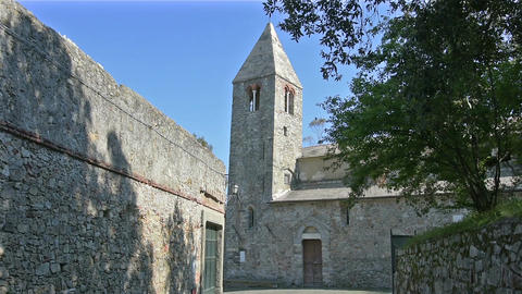 St. Nicholas church in Sestri Levante Filmmaterial