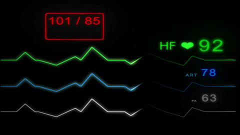 E.C.G Monitor - With Pulse - without grid - 4K Animation