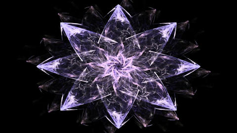 fractal radial pattern on the subject of science, technology and design Animation