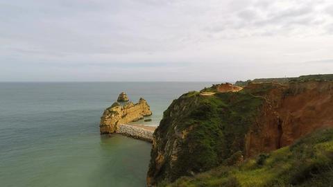 ponta de piedade on the algarve coast Footage