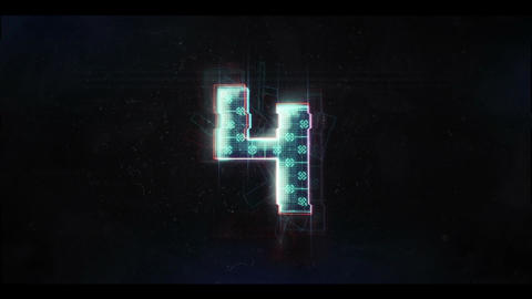 Glitch Countdown HUD Sci Fi Animation