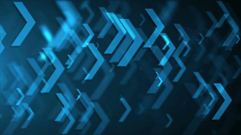 Movement of blue arrows. Technology background. Seamless loop Animation