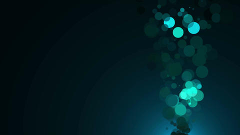 Abstract bubbles with dark background. Seanless loop Animation