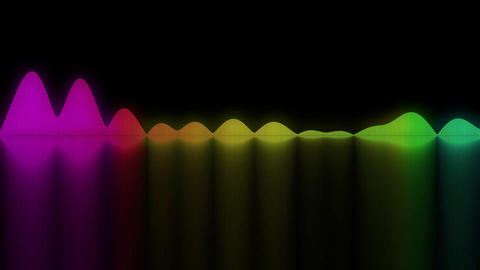 Colorful sound waves. Good background for audio concepts Animation
