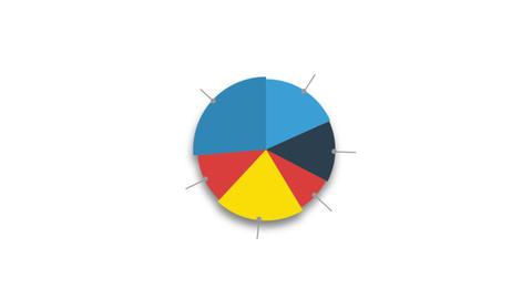 Circle diagram for presentation on white background