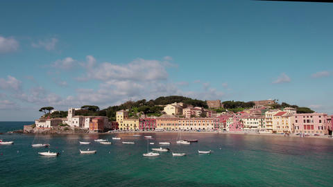 A view of Sestri Levante, Italy Filmmaterial