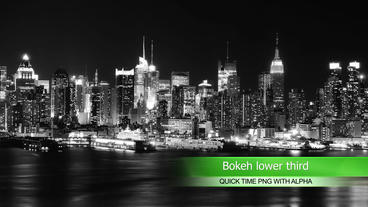 Bokeh lower thirds After Effects Project