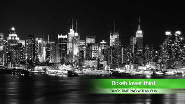 Bokeh lower thirds After Effects Template