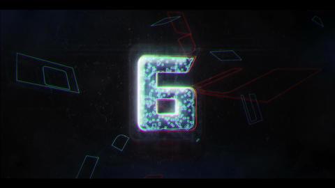 Glitch Countdown HUD GIF