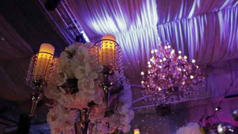 Luxury, fashion wedding decoration wedding, wedding table, restaurant Live Action