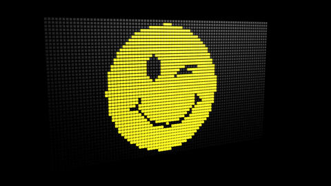 Winking LED Emoji Footage