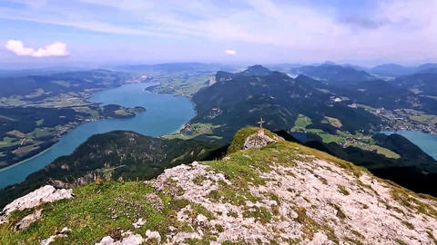 Austria. The view from the mountain Schafberg