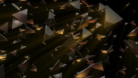 Myriad light shining triangles flowing from the right Animation