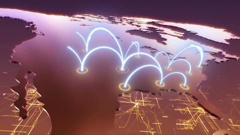 United States Business Network - Orange Stock Video Footage