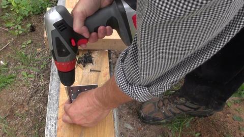 Builder screwing screws Footage