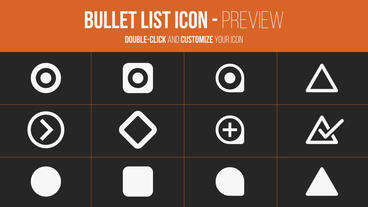 Bullet List Kit After Effects Template