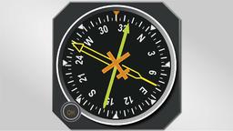 Animation of ADF navigation directional gyro indicator CG動画素材