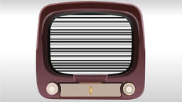 Animation of old television with no signal Animation