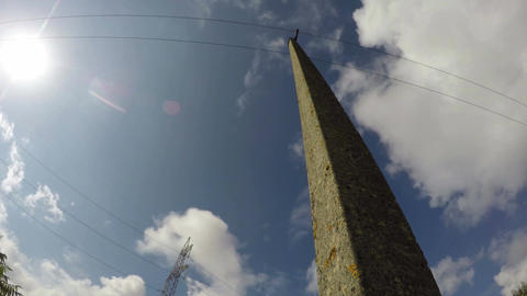 Electrical pylon and electrical pole, time lapse 4K Footage