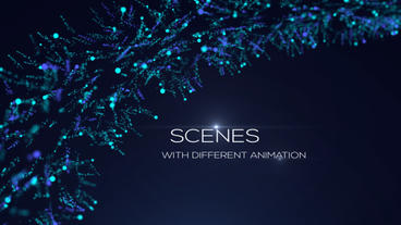 Titles Particles . Blue Titles After Effects Template