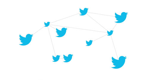 Twitter Online News and Social Networking Service Logo Conceptual Network Footage