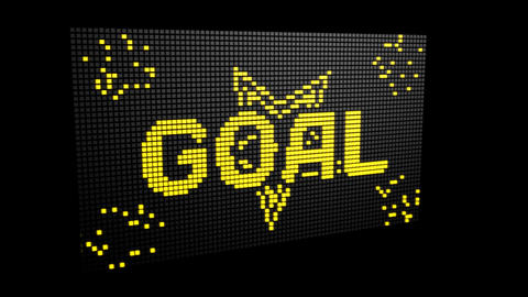 Goal LED Display Footage
