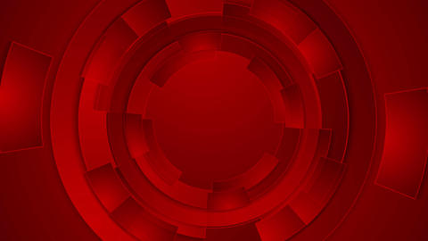 Bright red technology futuristic gears video animation Animation