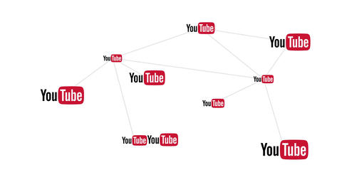 Youtube Video Sharing and Hosting Web Site Logo Conceptual Network Animation