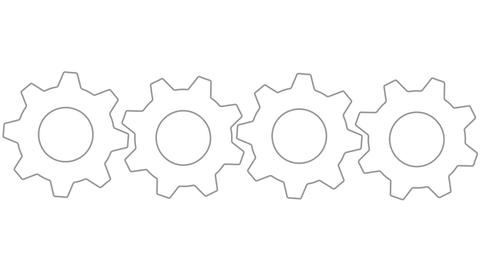 Gears side by side loopable Animation