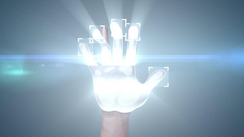 Fingerprint Access. 3d animation Animation