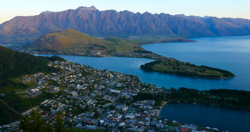 Queenstown New Zealand Twilight Footage