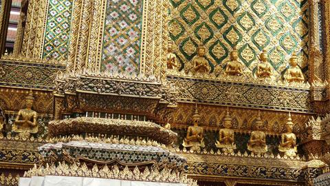 Bangkok Wat Phra Kaew Thailand Asia Panorama 4K Footage