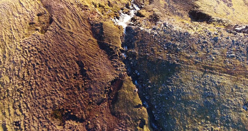 Aerial Iceland Waterfall Footage