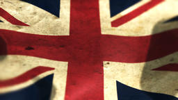 Beautiful flag of the United Kingdom waving in the wind Animation