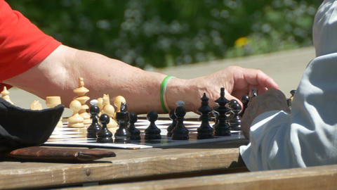 Hands Moving Chess Pieces Footage