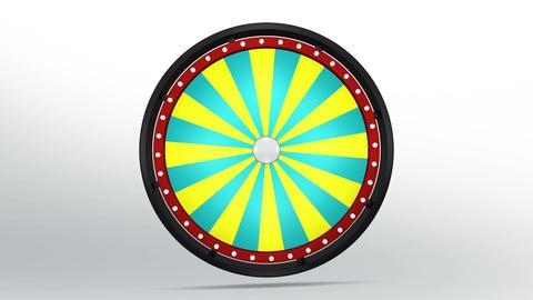 Black fortune wheel of 24 area 4K CG動画素材