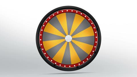 Black fortune wheel of 24 area orange 4K Image